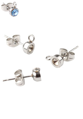 www.sayila.co.uk - Stainless steel ear studs 13,5x8mm for 3,1mm pointed back