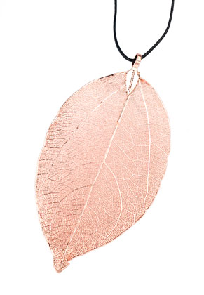 www.sayila.com - Metal pendant leaf 65-95mm