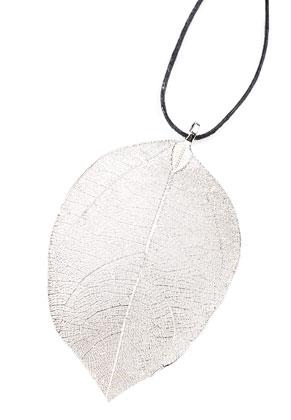 www.sayila.com - Metal pendant leaf 65-95mm