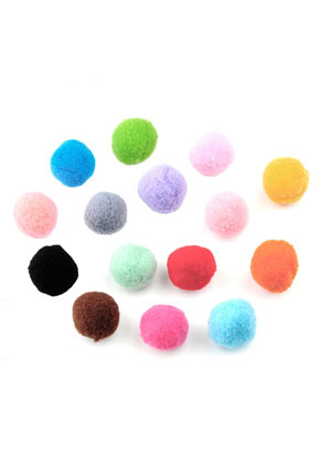www.sayila.nl - Mix stoffen pompon balletjes 25mm