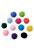 www.sayila.nl - Mix stoffen pompon balletjes 20mm