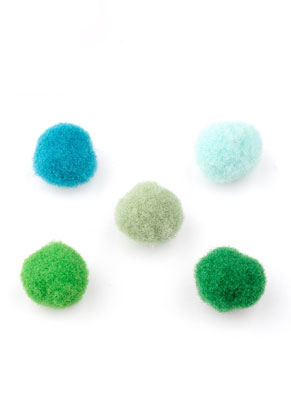 www.sayila.be - Mix stoffen pompon balletjes 10mm
