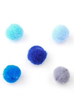 www.sayila.es - Mezcla de pompones de textil 10mm