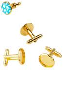 www.sayila.com - Metal cufflinks 18x17mm with setting for 16mm flat back  - D22052
