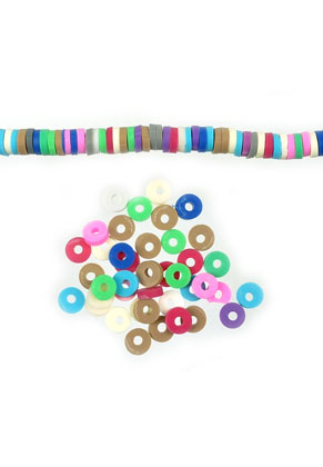 www.sayila.com - Mix polymer clay heishi beads 4mm (420 pcs.)