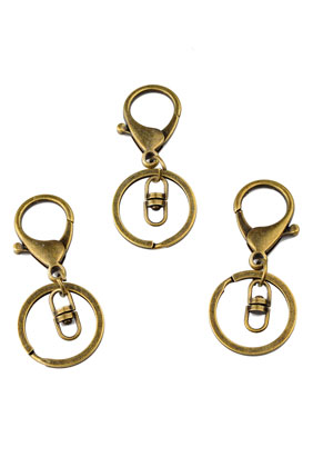 www.sayila.nl - Metalen sleutelhangers met ring 70x30mm