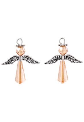 www.sayila.com - Metal and glass pendants/charms angel 38x32mm