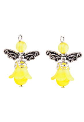 www.sayila.com - Metal and synthetic pendants/charms angel 31x22mm