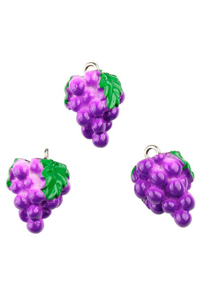 www.sayila.com - Synthetic pendants/charms bunch of grapes 19x12mm