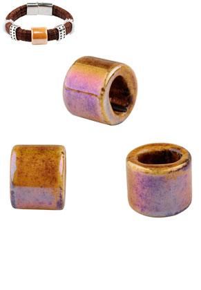 www.sayila.fr - Style grand-trou perles en céramique cylindre 17x14mm