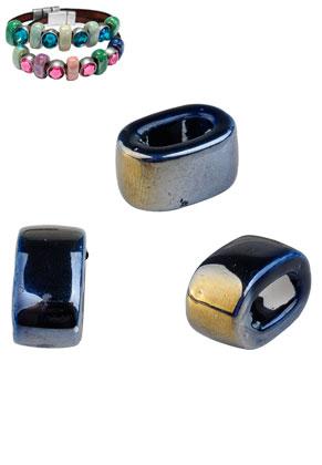 www.sayila.es - Estilo agujero-grande abalorios de cerámico ovale 18x12mm