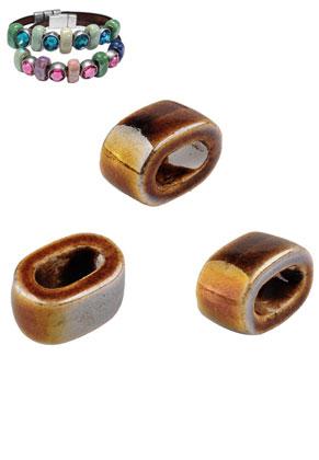 www.sayila.be - Groot-gat-style keramiek kralen ovaal 18x12mm