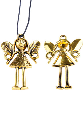 www.sayila.com - Metal pendants angel 57x37mm