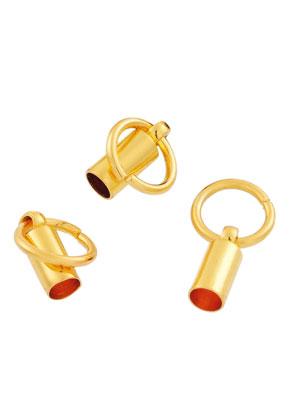 www.sayila.com - Brass caps with jump ring 16x8mm
