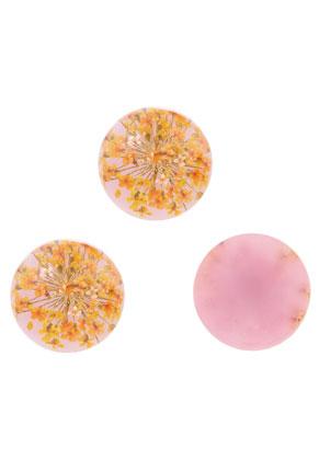 www.sayila.com - Resin dried flowers flat backs/cabochons round 18mm