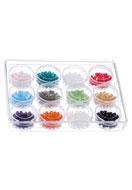 www.sayila-perlen.de - Mix Glasperlen konisch 4mm in Kunststoffboxen - D22261