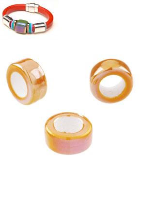 www.sayila.es - Estilo agujero-grande abalorios de cerámico rondelle 20x10mm