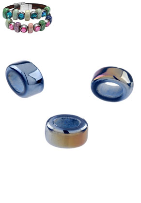 www.sayila.es - Estilo agujero-grande abalorios de cerámico ovale 16x13mm