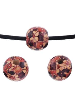 www.sayila.fr - Perles de bois, circulaires décorées 19x17mm