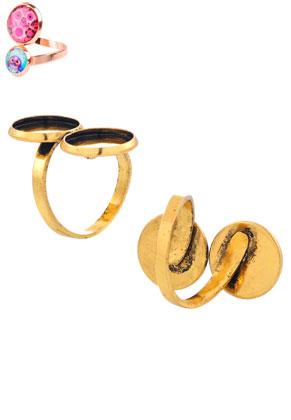 www.sayila-perlen.de - Metall Ringe >= Ø 16,5mm mit Fassungs für 12mm Klebsteine