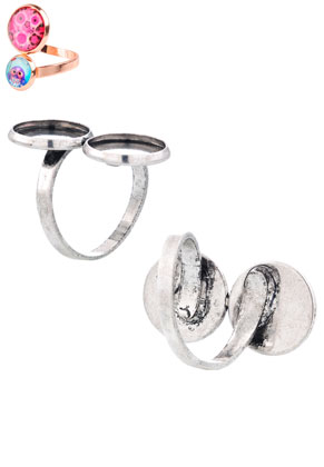 www.sayila.com - Metal rings >= Ø 16,5mm with settings for 12mm flat backs