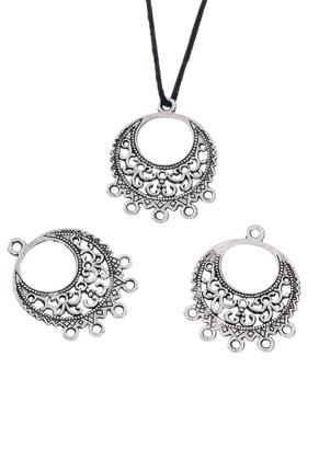 www.sayila.com - Metal pendants/connectors round with eyes 32x25mm
