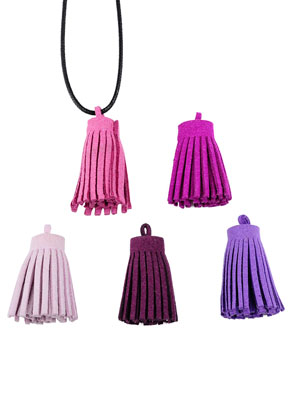 www.sayila.com - Mix imitation suede tassels 31x11mm