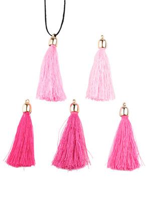 www.sayila.fr - Mélange de pompons en textile avec calotte 55x8mm