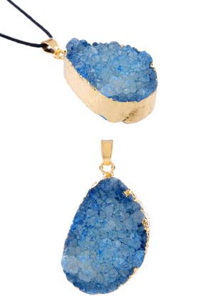www.sayila.com - Natural stone pendant oval 51x28mm