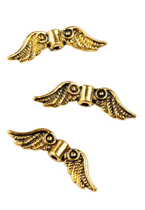 www.sayila.com - Metal beads wings 23x7mm