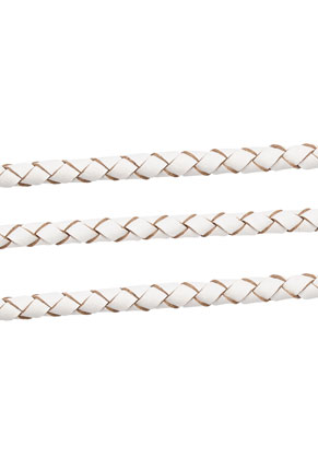www.sayila.com - Leather cord braided 100cm, 4mm thick