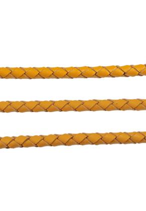 www.sayila.nl - Leren koord gevlochten 100cm, 4mm dik