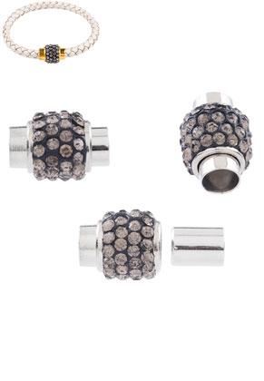 www.sayila.es - Cierres de metal magnéticos con strass 17x12mm