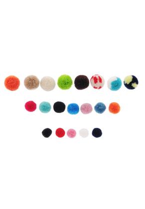 www.sayila.com - Mix textile pompoms 15-25mm