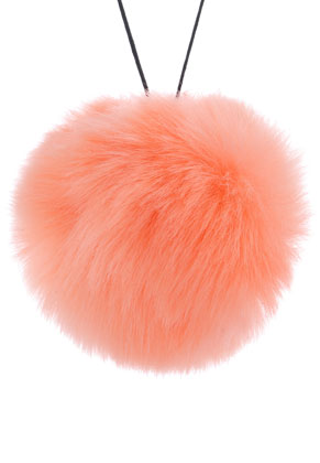 www.sayila.com - Fluff ball with elastic loop 90mm