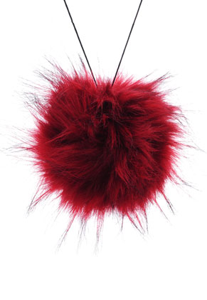 www.sayila.com - Fluff ball with elastic loop 135mm
