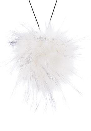 www.sayila.fr - Boule de peluche avec boucle en élastique 135mm