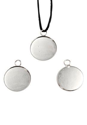 www.sayila.nl - Metalen hangers/bedels rond 22x17mm met kastje voor 16mm plaksteen