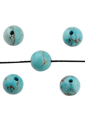 www.sayila.nl - Natuursteen kralen Turquoise Howlite rond 4mm