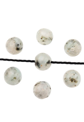 www.sayila.com - Natural stone beads Kiwi Jasper round 4mm