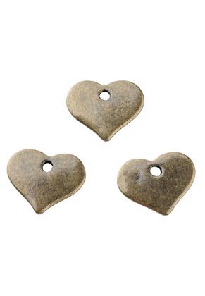www.sayila.com - Metal name tag/label pendants/charms heart 15x13mm