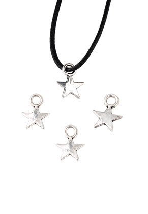 www.sayila.com - Metal pendants/charms star 11x8mm