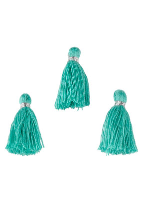 www.sayila.fr - Pompons en textile mini 22x10mm