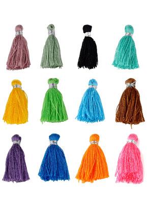 www.sayila.fr - Mélange de pompons en textile mini 22x10mm