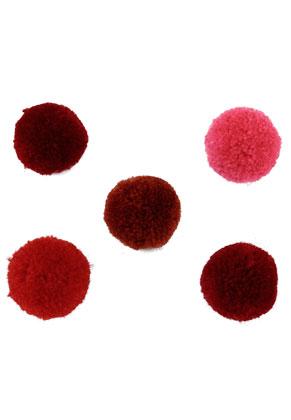 www.sayila-perlen.de - Mix Stoff Pompons 20mm