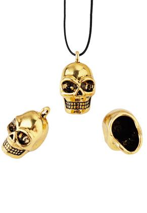 www.sayila.nl - Metalen hangers/bedels doodshoofd/schedel 25x14mm