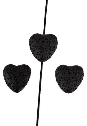 www.sayila.es - Abalorios de perfume de piedra natural roca de lava corazón 20mm