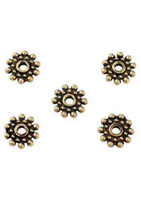 www.sayila.nl - Metalen kralen rondel plat 8mm
