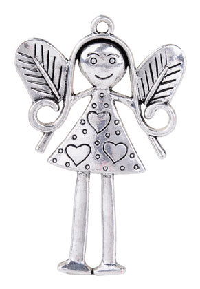 www.sayila.com - Metal pendant angel 81x53mm