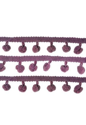 www.sayila.fr - Bande décorative en textile avec pompons